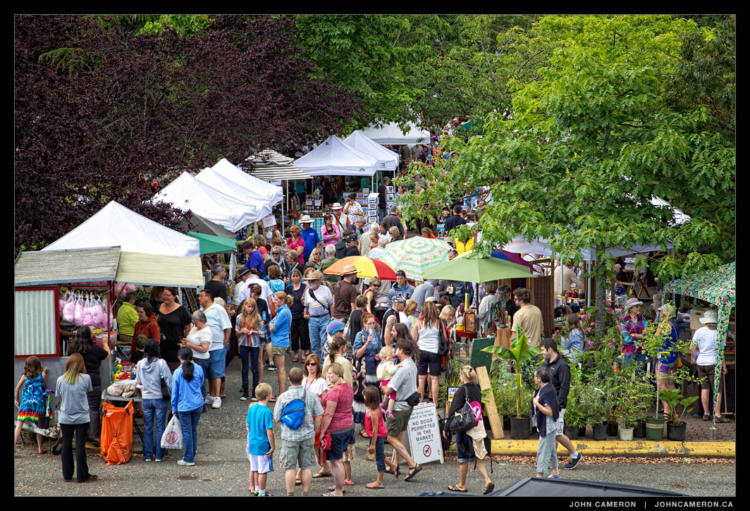 Salt Spring Saturday Market in Ganges.