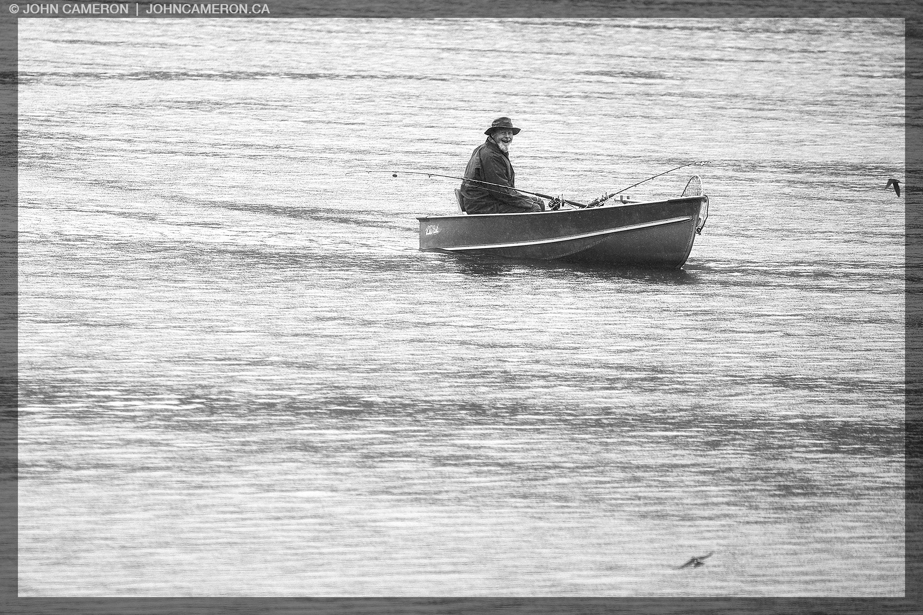 Fishing in the Rain on St. Mary Lake