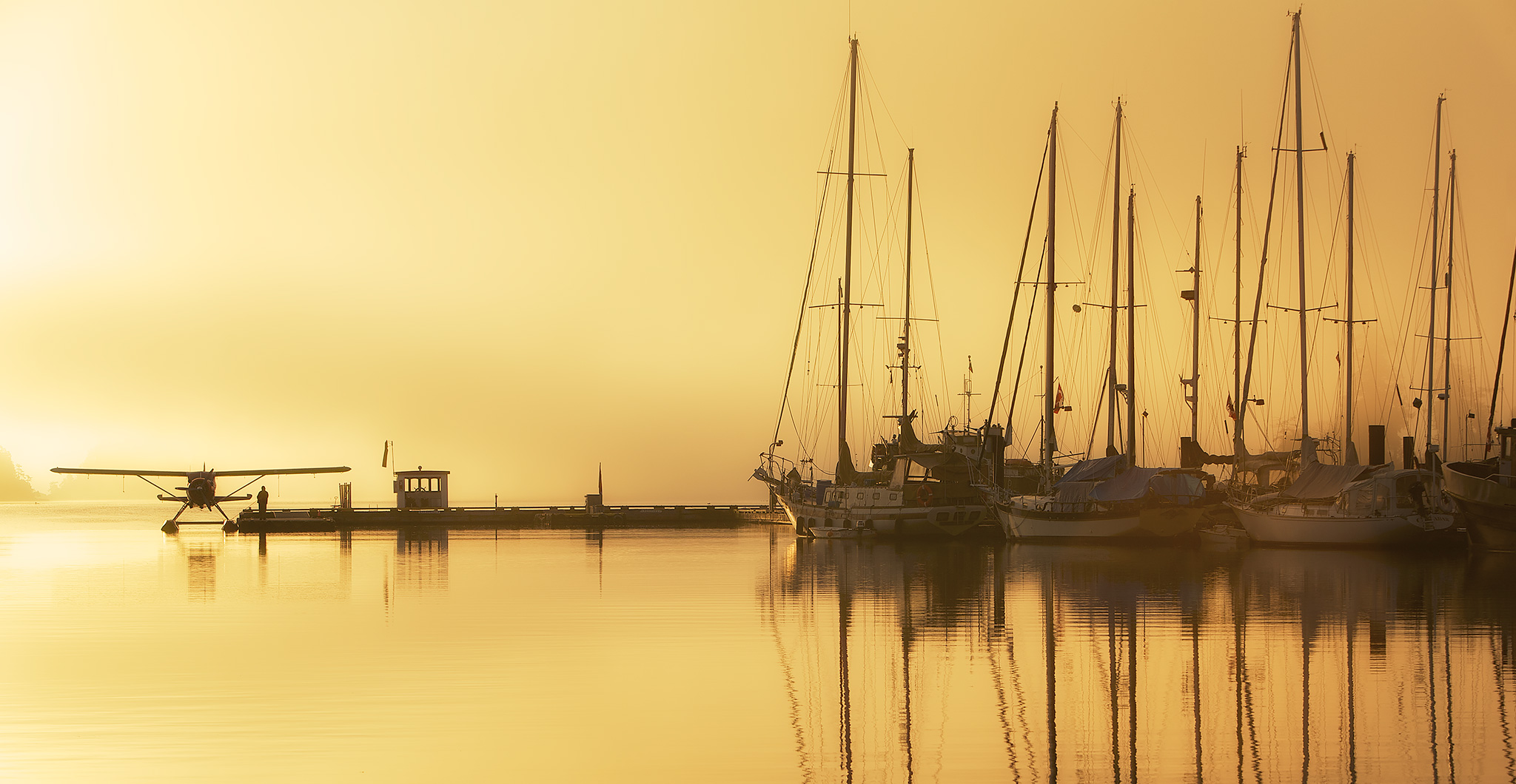 Winter Sunrise, Ganges Harbour