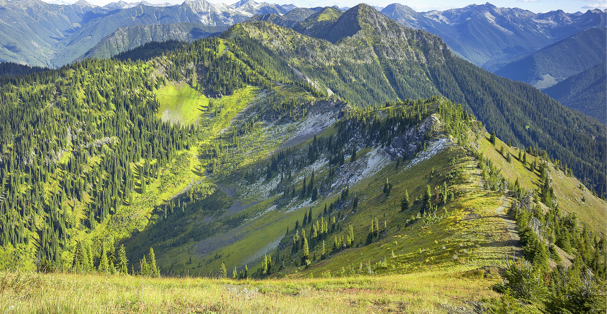 Hiking Idaho Peak near New Denver, BC
