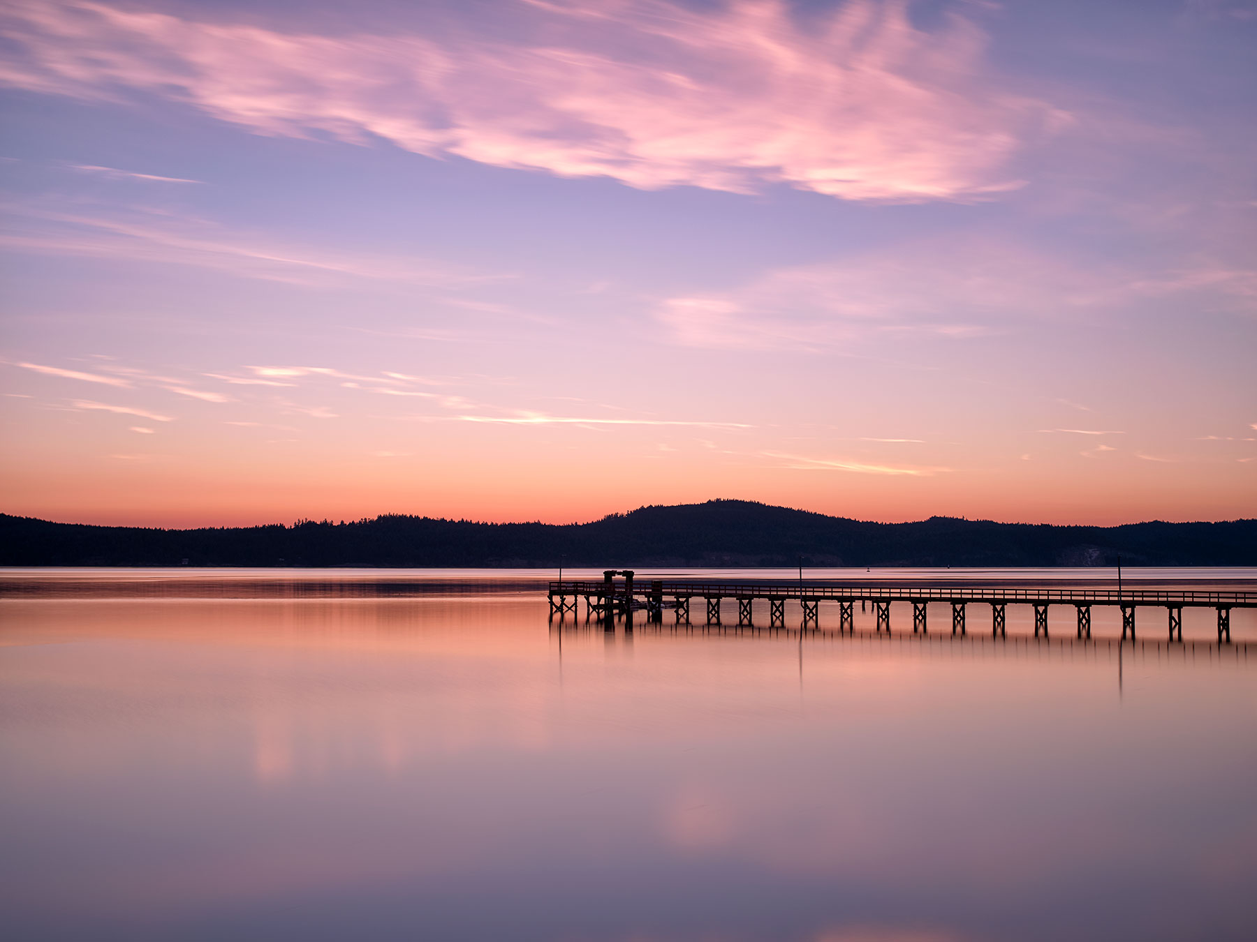 Pre-Dawn at Fernwood Pier, Salt Spring Island