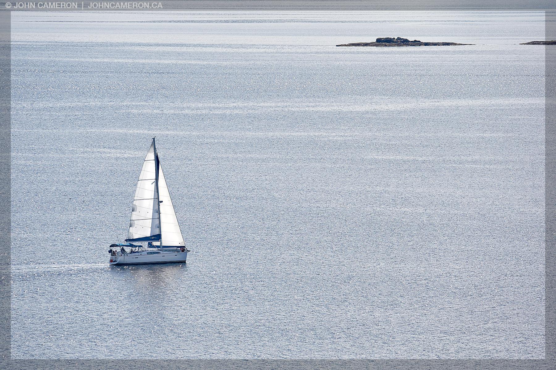 Sailing off Salt Spring Island