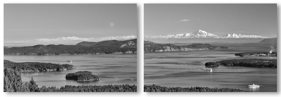Gulf Islands View-Diptych ©johncameron.ca